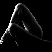 Buy canvas prints of nude legs on woman bodyscape by Alessandro Della Torre