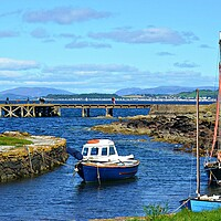 Buy canvas prints of Small craft, small harbour, Portencross. by Allan Durward