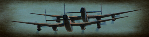Lancasters on old paper Framed Print by Allan Durward Photography