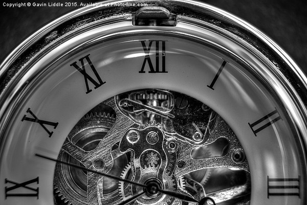 Pocket watch in black and white Canvas print by Gavin Liddle
