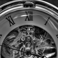 Buy canvas prints of  Pocket watch in black and white by Gavin Liddle