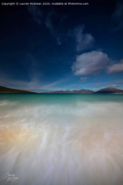 Luskentyre Beach Canvas Print by Lauren McEwan