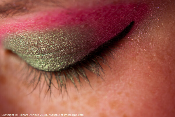 Eye catching makeup Print by Richard Ashbee