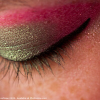 Buy canvas prints of Eye catching makeup by Richard Ashbee