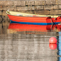 Buy canvas prints of The red fishing boat by Richard Ashbee