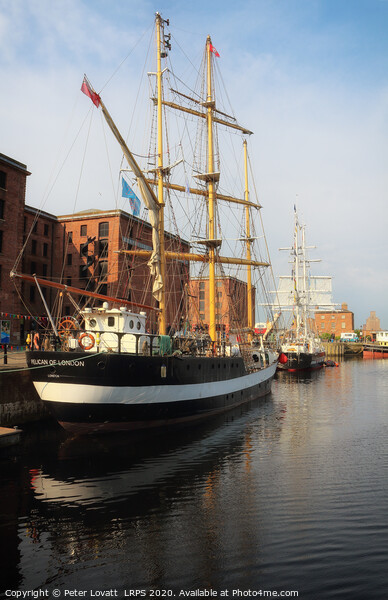 Albert Dock Tall Ships Acrylic by Peter Lovatt  LRPS