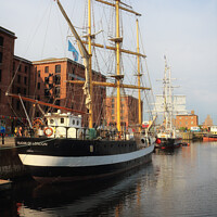 Buy canvas prints of Albert Dock Tall Ships by Peter Lovatt  LRPS