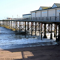 Buy canvas prints of Pier at Teignmouth on a windy day.  by john hill