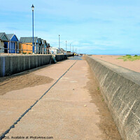 Buy canvas prints of Seaside promenade at Sutton on Sea, Lincolnshire. by john hill