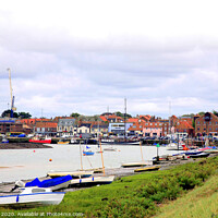 Buy canvas prints of The Quay and harbour of Wells next the sea in Norfolk. by john hill