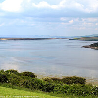 Buy canvas prints of View of the Fleet Lagoon and Chesil beach in Dorset. by john hill