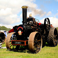 Buy canvas prints of Vintage 1920 Steam Engine. by john hill