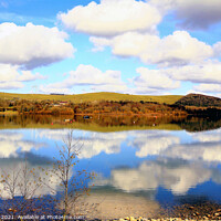 Buy canvas prints of Countryside water reflections. by john hill