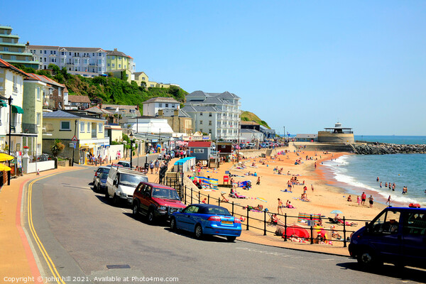 Ventnor on the Isle of Wight. Print by john hill