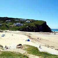 Buy canvas prints of Porthtowan beach in Cornwall. by john hill