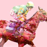 Buy canvas prints of Horse Flowers Bloom by Hannah Watson