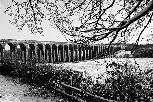 Balcombe Viaduct in the Snow Canvas Print by Eddie Howland