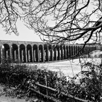 Buy canvas prints of Balcombe Viaduct in the Snow by Eddie Howland
