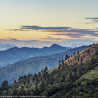 Buy canvas prints of Blue Mountains at sunset, Jamaica by Karol Kozlowski