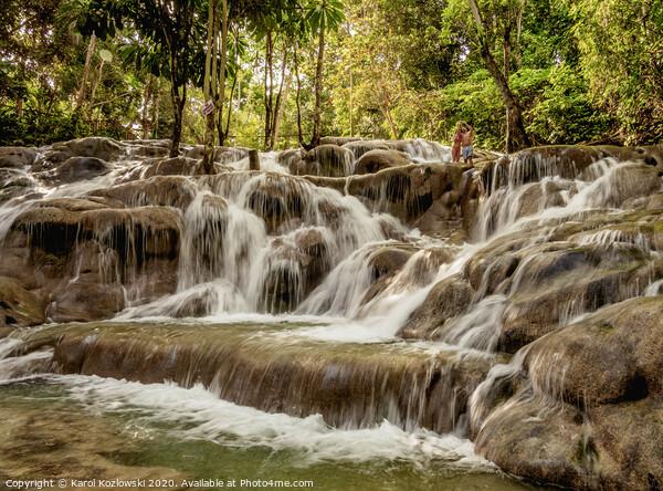 Dunn's River Falls in Jamaica Canvas Print by Karol Kozlowski