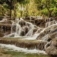 Buy canvas prints of Dunn's River Falls in Jamaica by Karol Kozlowski
