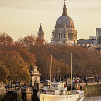 Buy canvas prints of River Thames and St Pauls Cathedral at sunrise, London by Karol Kozlowski