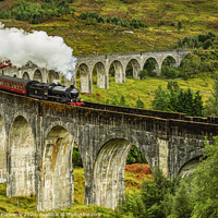 Buy canvas prints of Jacobite Steam Train crossing the Glenfinnan Viaduct by Karol Kozlowski