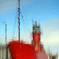 Buy canvas prints of Liverpool lightship by Andrew Davies
