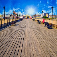 Buy canvas prints of On the pier.  by Caron York