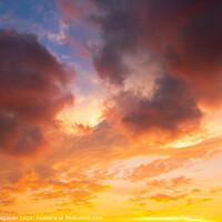 Buy canvas prints of Dramatic Sky at Sunset by Sener Dagasan