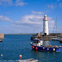 Buy canvas prints of Donaghadee lighthouse by Cecil Owens