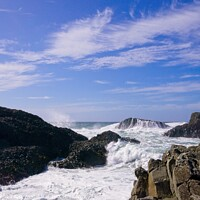 Buy canvas prints of Crashing waves by Cecil Owens