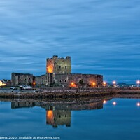 Buy canvas prints of Night time at the castle by Cecil Owens