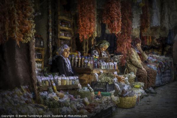 Turkish Market Framed Mounted Print by Barrie Tumbridge