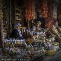 Buy canvas prints of Turkish Market by Barrie Tumbridge