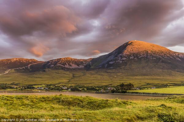 Croagh Patrick Mountain Ireland Canvas Print by jim Hamilton