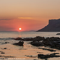Buy canvas prints of Sunrise at Fairhead, Northern Ireland by jim Hamilton