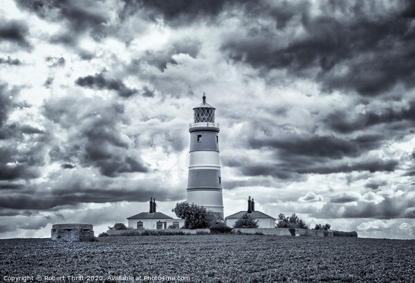 Happisburgh Lighthouse Framed Mounted Print by Robert Thrift