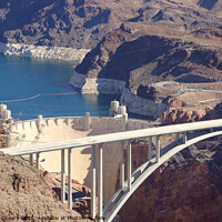 Buy canvas prints of Aerial stock photo of Hoover Dam by Timothy OLeary