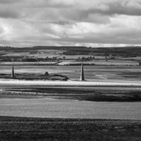 Buy canvas prints of Mono view from Holy Island  - Lindisfarne by Nige Morton