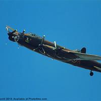Buy canvas prints of Lancaster Bomber by David Borrill
