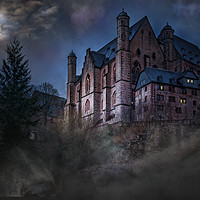 Buy canvas prints of Castle Wolf, Fantasy art. by David Borrill