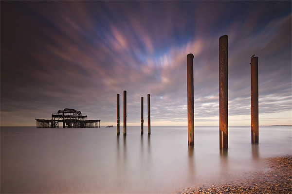 West Pier Remains Canvas print by Chester Tugwell