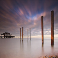 Buy canvas prints of West Pier Remains by Chester Tugwell