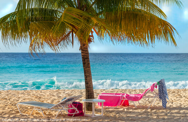 Dover Beach Barbados Print by Peter Thomas