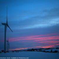 Buy canvas prints of Turbines at Dusk by David Richardson
