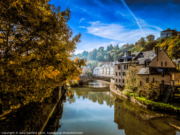 Views along the Alzette River Framed Mounted Print by Gary Sanford