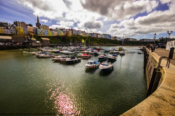 Tenby From the Harbour Print by Paddy Art