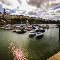 Buy canvas prints of Tenby From the Harbour by Paddy Art