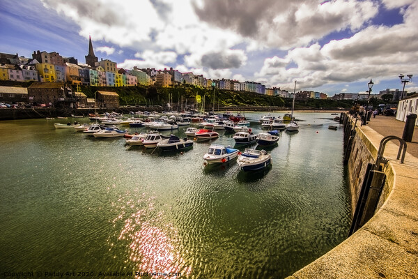 A View from Tenby Harbour Print by Paddy Art